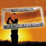 Three Foot Putt License Plate Frame
