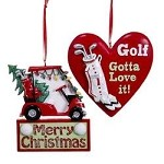 Assorted Golf Ornaments